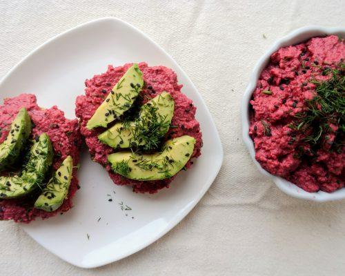 хумус с червено цвекло рецепта