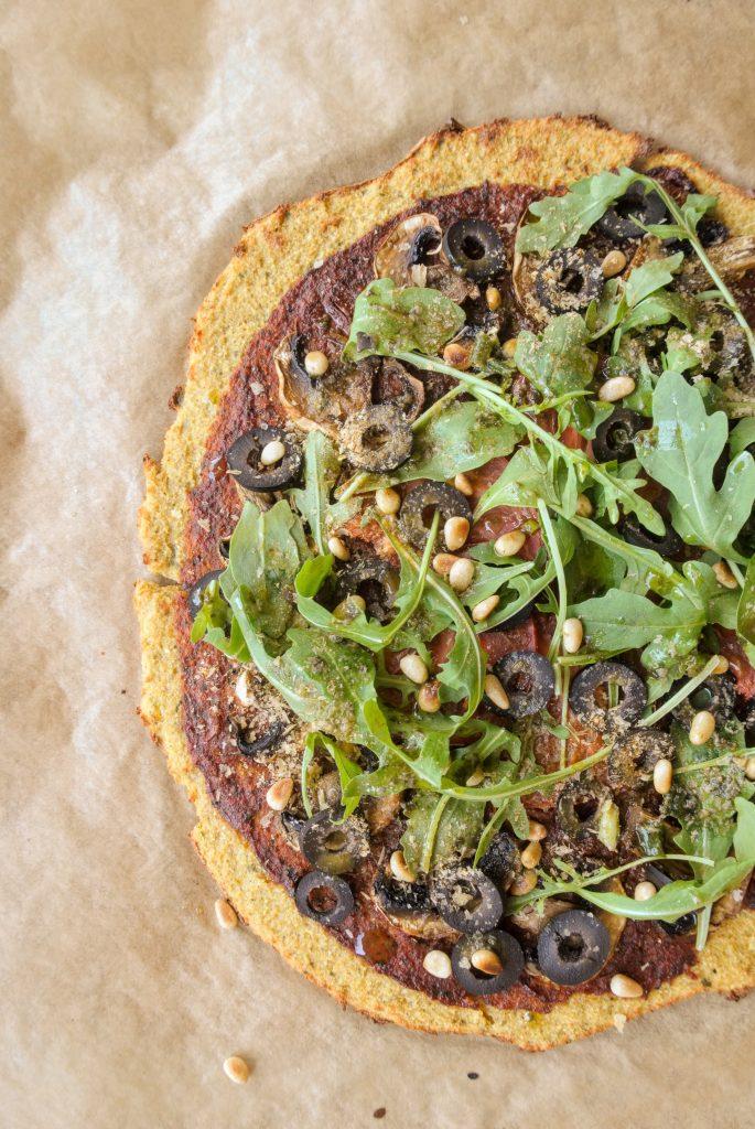 основа за пица от нахутено брашно