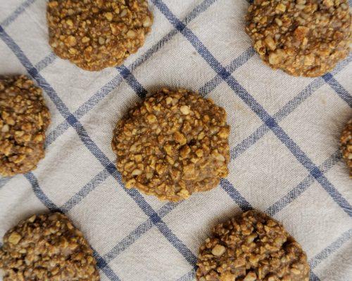 постни бисквити с тахан без печене