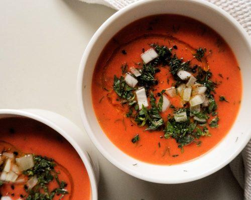 Кореноплодна крем супа