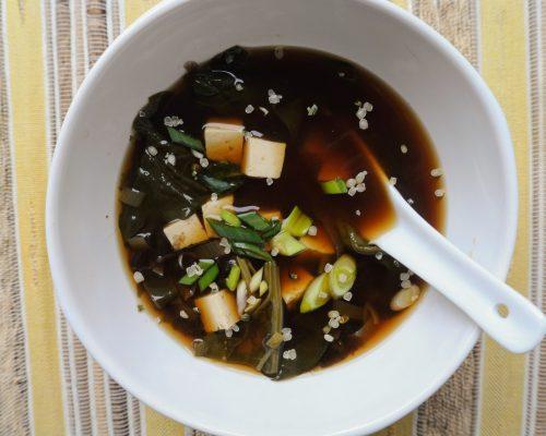 мио супа зеленолистни бърза рецепта