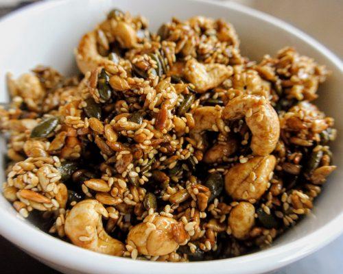 печени ядки на тиган с тамари (мезе)